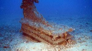 un rostro delle navi coinvolte nella battaglia delle Egadi su un fondale di ottanta metri
