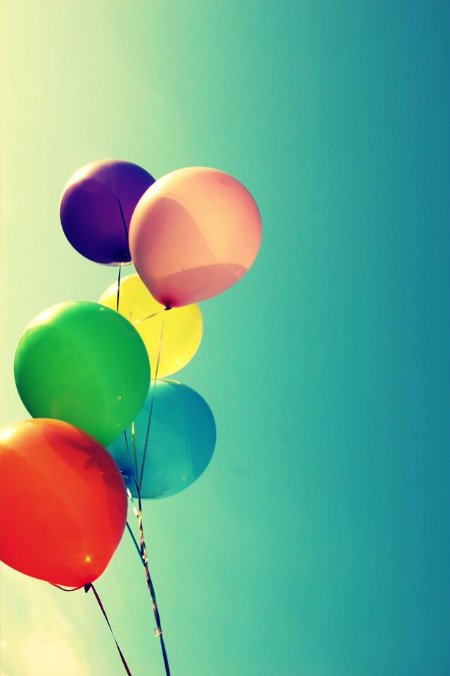 BALLOONS IPHONE WALLPAPER BACKGROUND