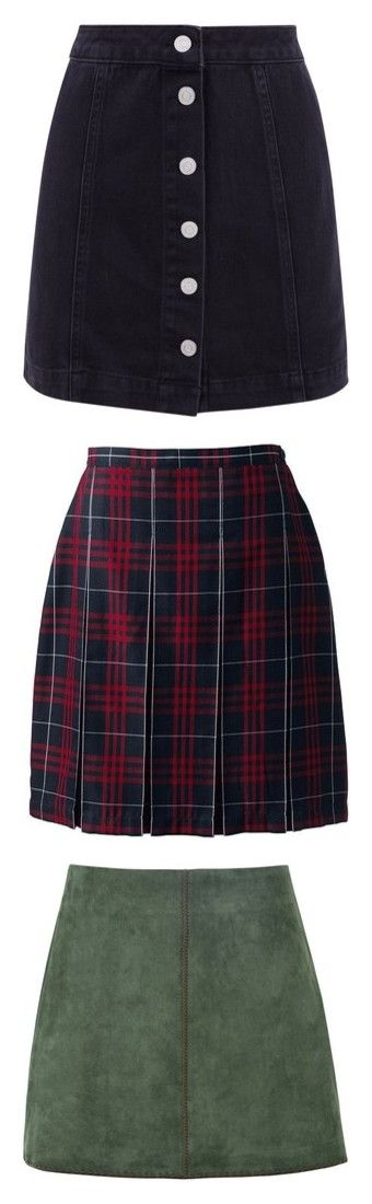 """skirts 4 dayz"" by amandalucky ❤ liked on Polyvore featuring skirts, mini skirts, denim miniskirt, short denim skirt, petite skirts, button up front skirt, short skirt, bottoms, saias and faldas"