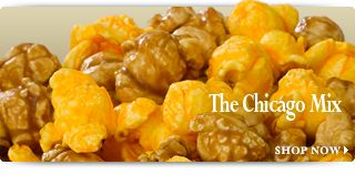 Best popcorn in the friggin world. Words can't even describe. Garrett's Popcorn - Chicago