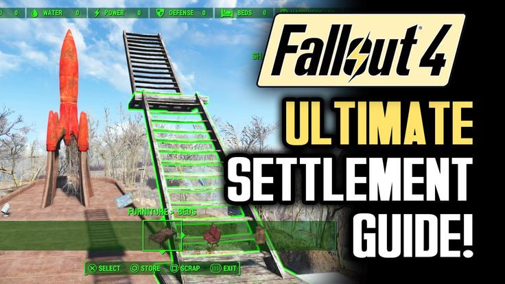 Fallout 4 Tips: ULTIMATE SETTLEMENT BUILDING GUIDE! A Walkthrough of Gam...