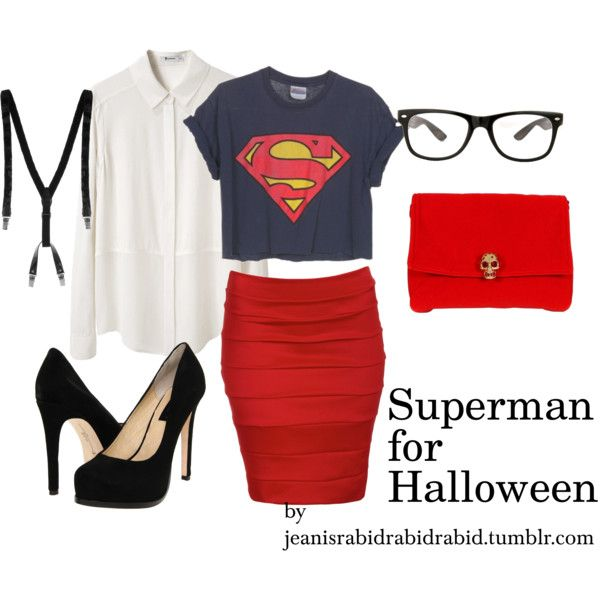 Superman for Halloween.... goes in fashion board or Halloween one.... hmmm