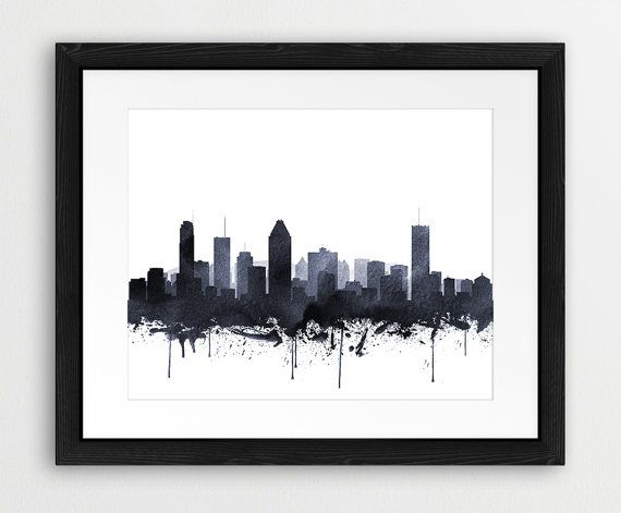 Montreal Watercolor Print Montreal Wall Art Canada by synplus