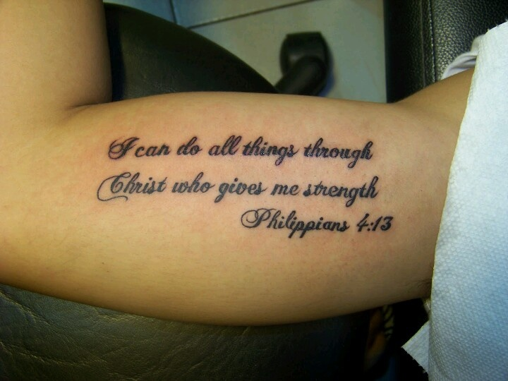 Philippians 4 13 tattoos pinterest for Bible verse tattoos on arm