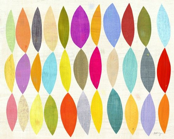 love these colors and shapes