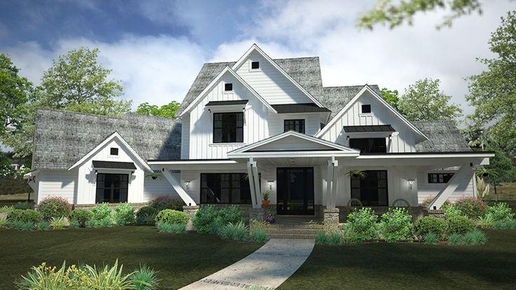 Angular Contemporary Farmhouse With Views HWBDO78091 + Farmhouse Home Plans from BuilderHousePlans.com