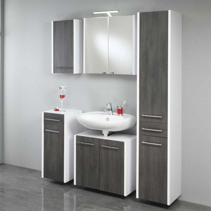 Badezimmermöbel Set In Weiß Grau Komplett (5 Teilig) Jetzt Bestellen Unter:  Https