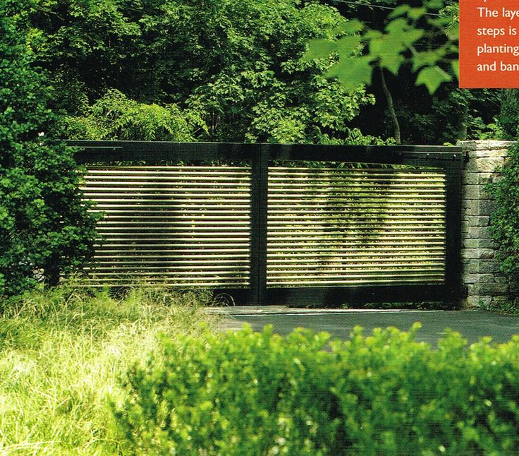 Modern Clean Driveway Gate Fences Pinterest Gates