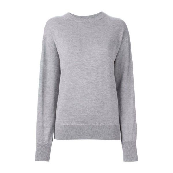 ISABEL MARANT 'Fiji' Gray Sweater (1,750 PEN) ❤ liked on Polyvore featuring tops, sweaters, grey, grey top, grey long sleeve sweater, isabel marant top, gray top and gray sweater