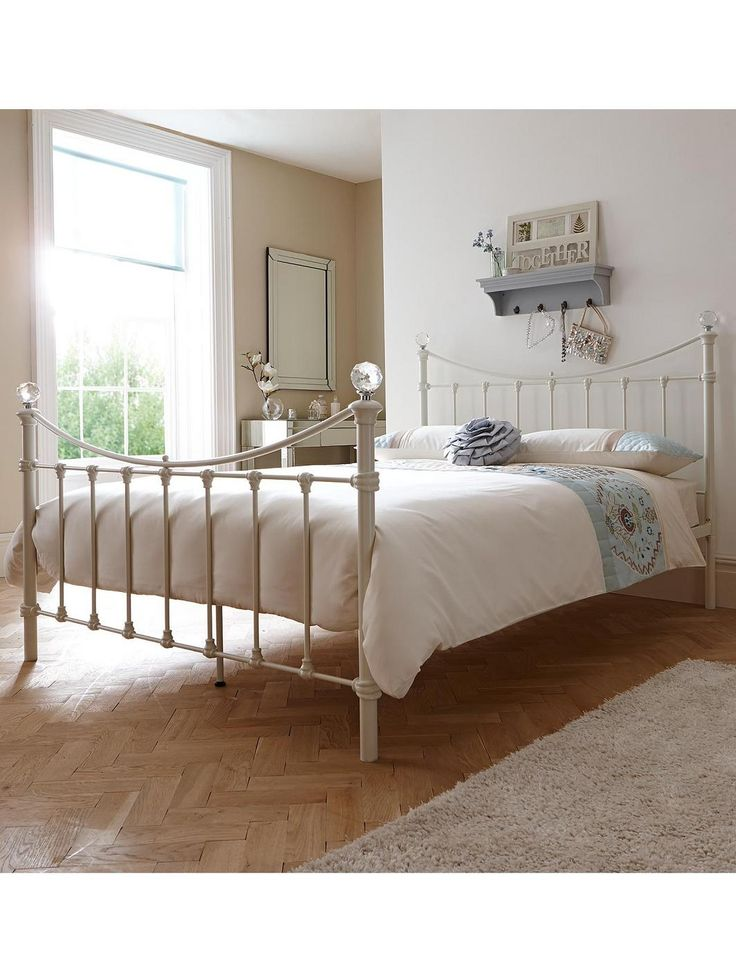 cheap bed frame  Isabella Metal Bed Frame with Optional Mattress | very.co.uk