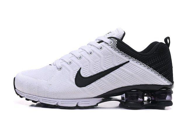 Nike Air Shox Flyknit White Silver Shox R4 Men's Athletic