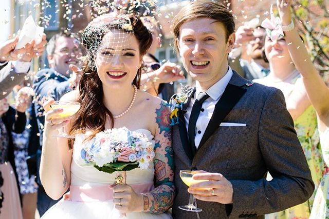 "Daisy & Leigh Kerrigan""I never thought about covering my tattoos on my wedding day; they are a big part of who I am. When I first started getting tattoos, my mum was horrified, and I remember her saying, 'What on earth will you look like in a wedding dress?!' Moving forward a few years, and everyone told me how much my dress and tattoos complemented each other."" #refinery29 http://www.refinery29.com/brides-with-tattoos-interview-photos#slide-7"