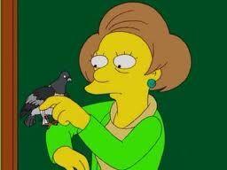 Mrs. Krabappel and Bart's pigeon