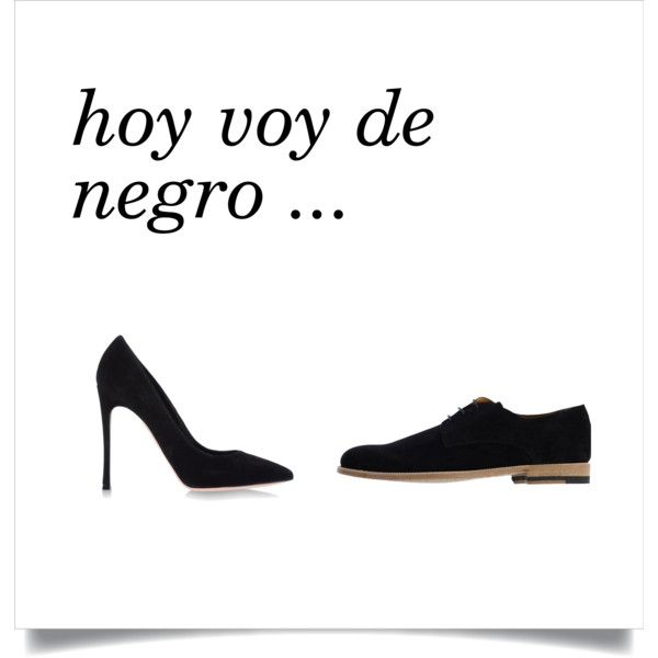 hoy voy de negro by dress4it on Polyvore featuring Gianvito Rossi and black
