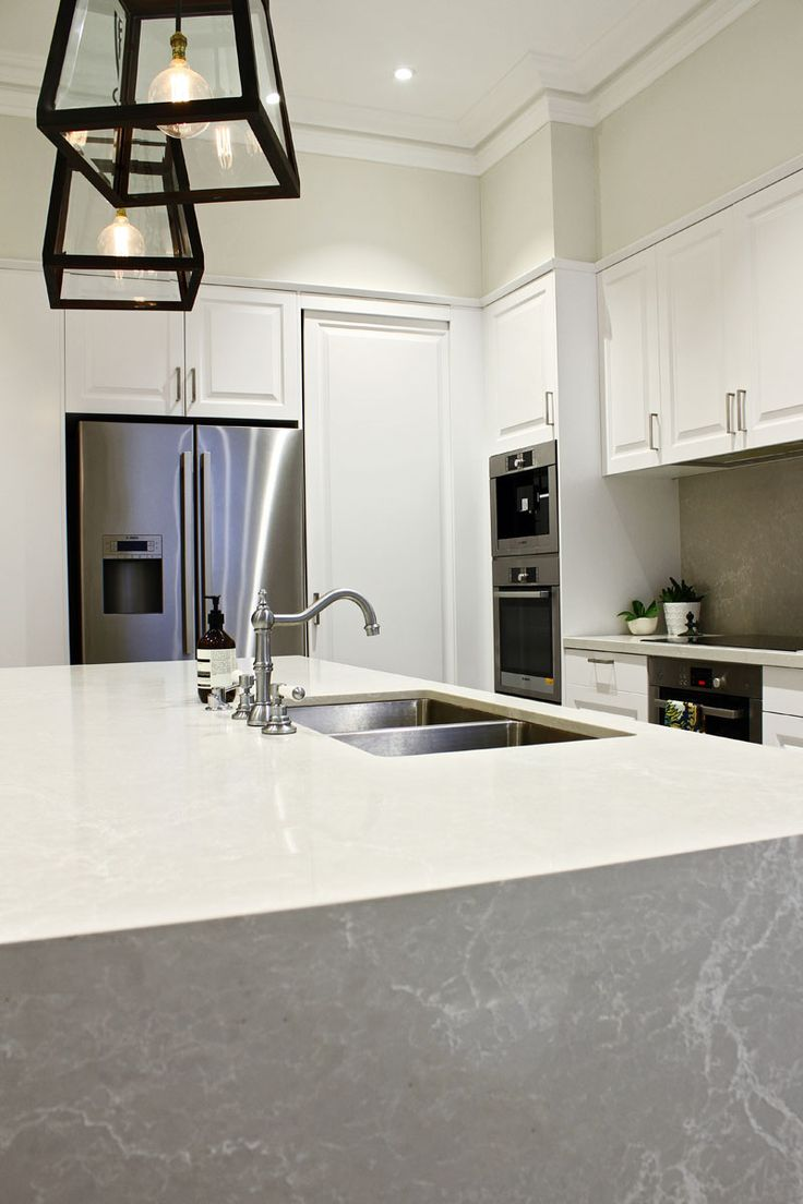 Caesarstone Alpine Mist with Waterfall End