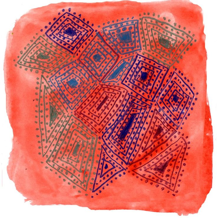 Art Projects for Kids: Aboriginal Lines and Dots - also make non geometric pictures using only dots