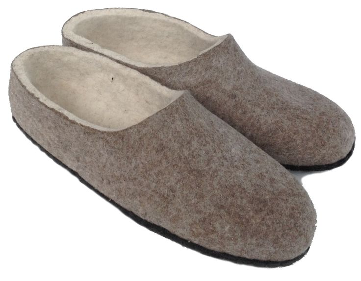 These unique fair trade felt slippers are handmade from high quality, Mongolian sheep wool with soft leather sole.