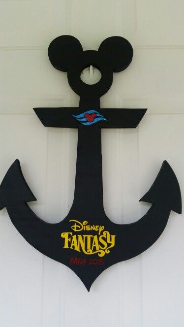 Anchor To Be Signed By Characters On A Disney Cruise Anchor Dcl Mickey Vacation