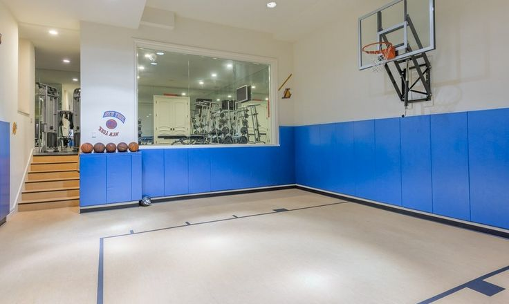 12 best basketball court images on pinterest indoor for How many square feet is a basketball court