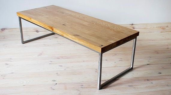"""Table, coffee table, unique, rectangular, Industrial series """"Industrial Oak Long"""""""