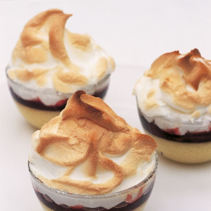 A picture of Delia's Individual Queen of Puddings with Morello Cherry Conserve recipe