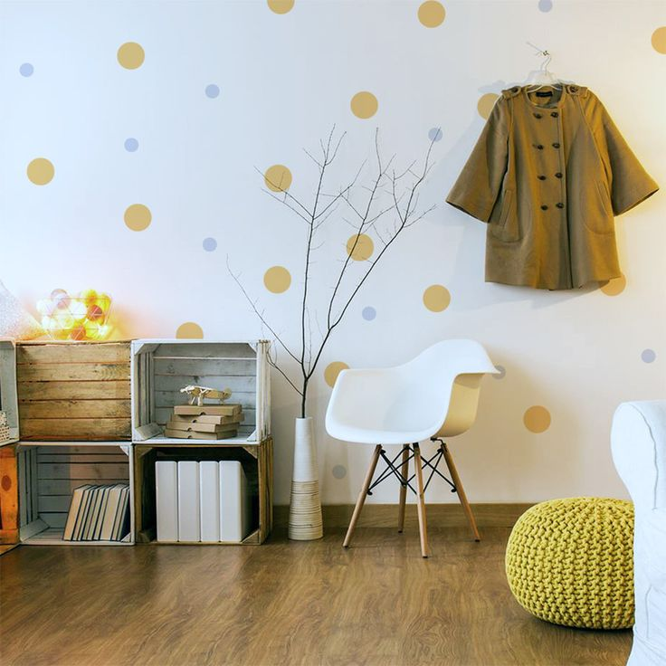 These coloured dots will bring to live any room of your home. Just peel them and stick them on your walls and furniture. The set includes 113 polka dots tha...