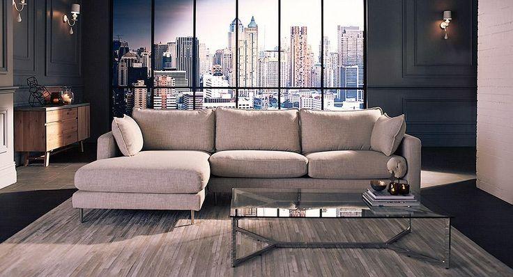 Adara leather lounge