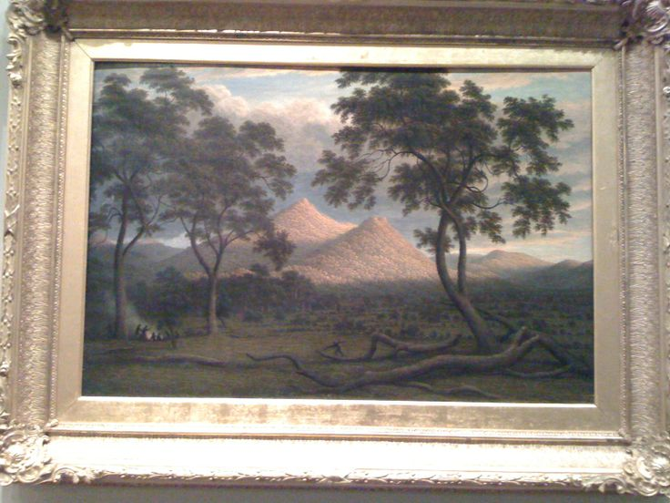 'Constitution Hill - Van-Diemens Land' by John Glover. State Library of Victoria, Cowen Gallery - Australian Paintings.