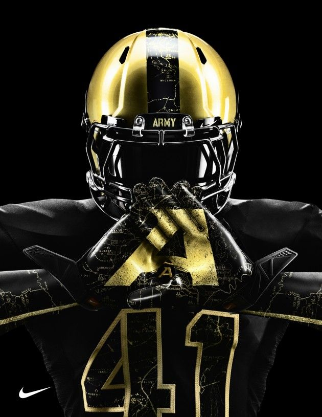 """Army's """"Ironclad War Veteran"""" uniform, mainly used for the Army v. Navy rivalry game."""
