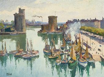 Gaston Balande Port De Honfleur Пейзаж Pinterest Gaston And Paintings