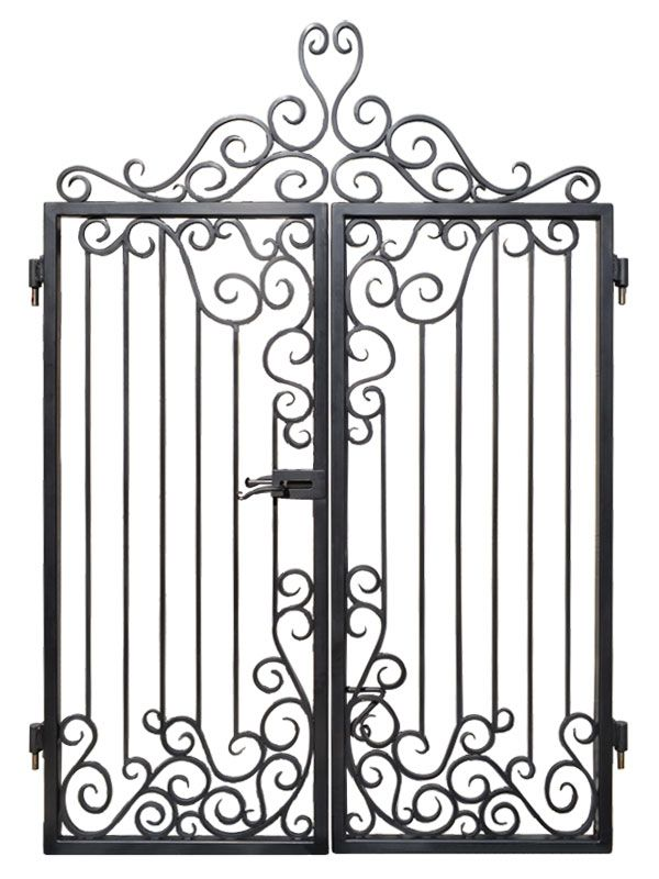 Custom Entrance Gates - Iron Scroll Design - handcrafted by master blacksmiths
