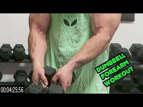 Intense 5 Minute Dumbbell Forearm Workout - YouTube