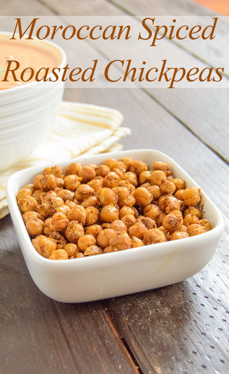 Roasted Chickpeas will change your snacking forever! They get so crunchy! Low fat, high protein, and super easy!