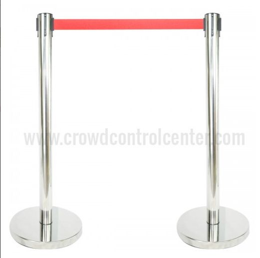 Online shop VIP Version in Mirror Polished Stainless Steel Retractable Stanchions and Barrier from CrowdControlCenter, A leading Crowd Control warehouse in US.