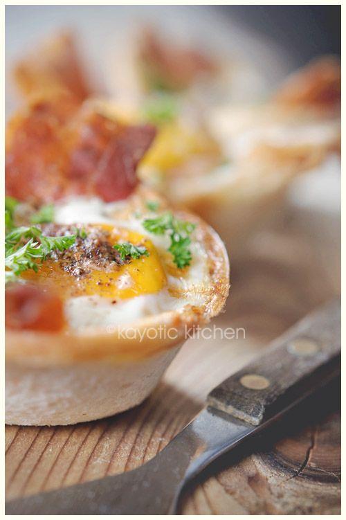 eggs/bacon/toast cups