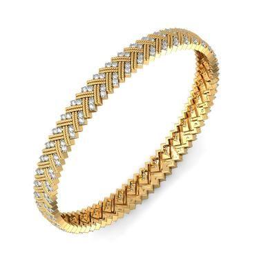 The Chavi Bangle Diamond Bangle In 18Kt Yellow Gold