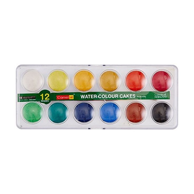 Buy #Camel #Student #WaterColour #Cakes 12 #Shades (#Pack of 2) at Best Price in India for Rs.97/-