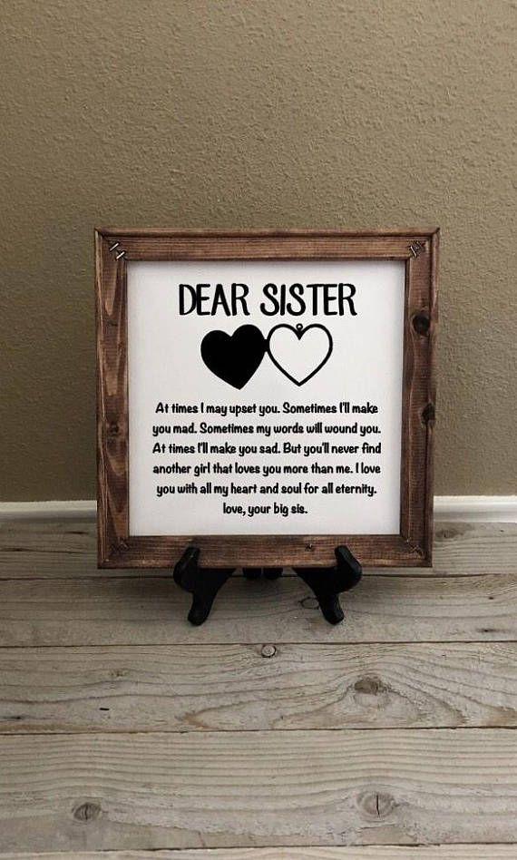 Reverse Canvas, Geschenk für Schwester, Geburtstagsgeschenke, Hochzeitsgeschenk, Weihnachtsgeschenke, kleine Schwester, Geschenke