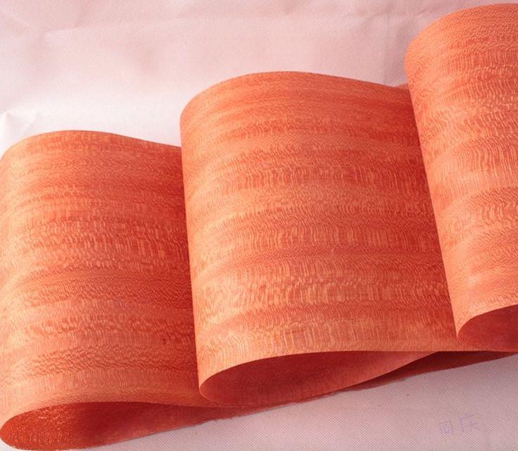 Longitud: 2.5 Metros/Roll Espesor: 0.2mm Ancho: 20 cm Rojo Precioso Chapa Natural Hecho A Mano de Cuero la Chapa De Madera maciza