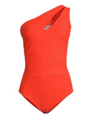 Enjoy exclusive for Chiara Boni La Petite Robe Ani One-Shoulder One-Piece Swimsuit RED online