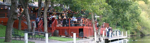 Live music on the patio at The County Line on the Lake