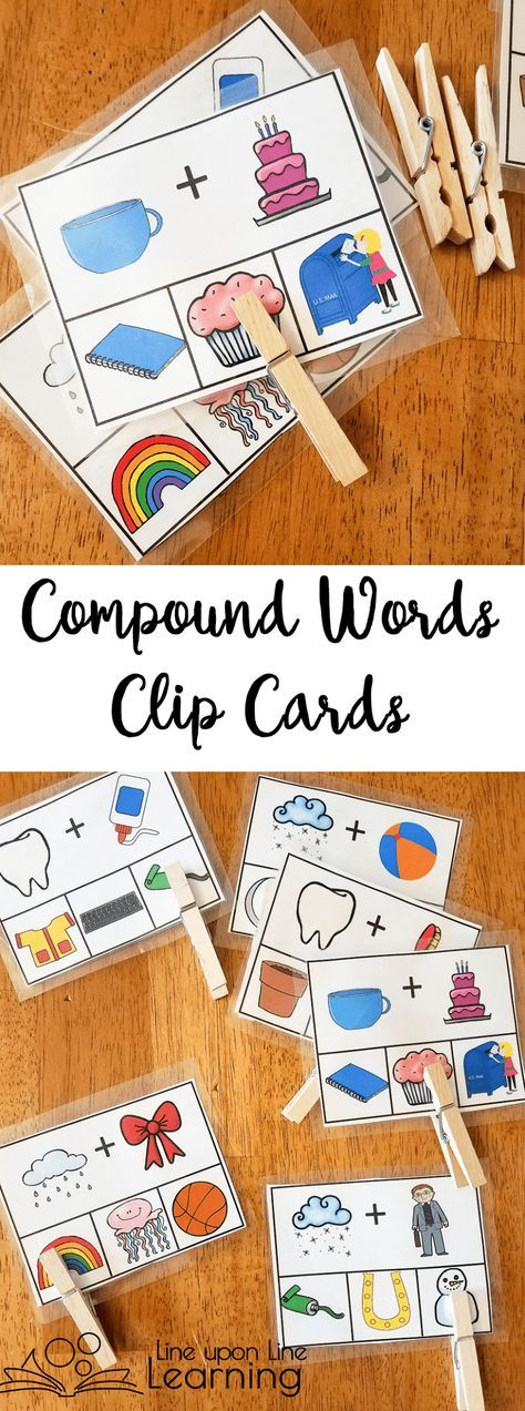 We used clothes pins to clip the correct image on the bottom that is the compound word to match the two pictures on top that we sounded out.