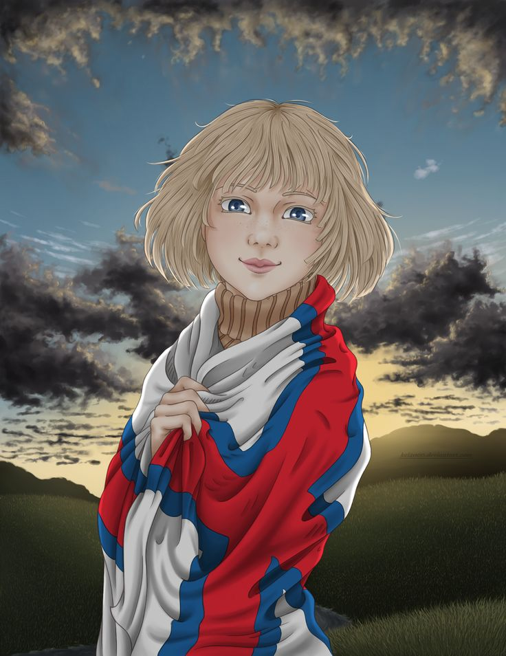 [OC APH] With her flag | Faroe Islands by Kei2000