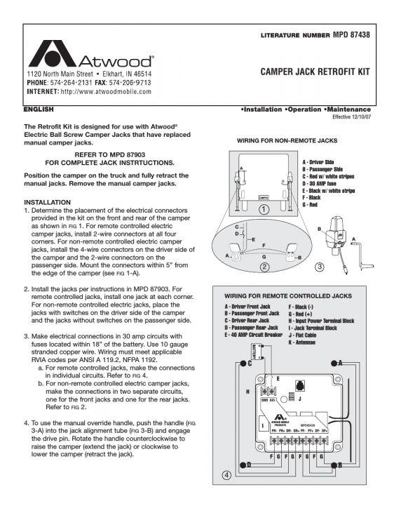 12  Atwood Electric Camper Jack Wiring Diagram