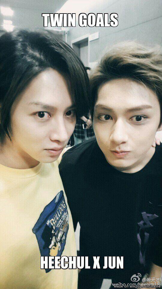 ... | allkpop Meme Center  Heechul (Super Junior)  and Jun (SEVENTEEN)