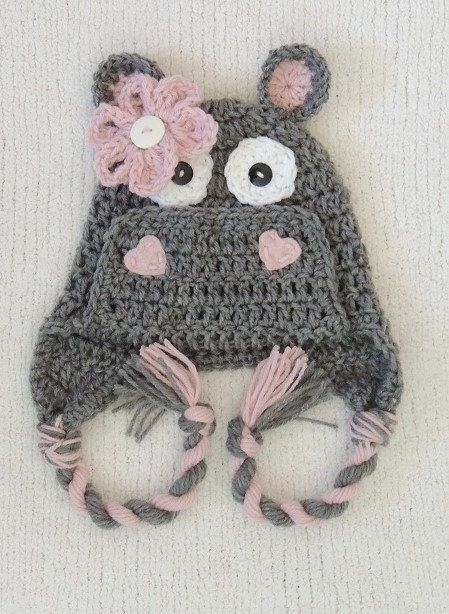 Hey, I found this really awesome Etsy listing at https://www.etsy.com/listing/249934098/crochet-hippo-hat-animal-hat-luvbeanies
