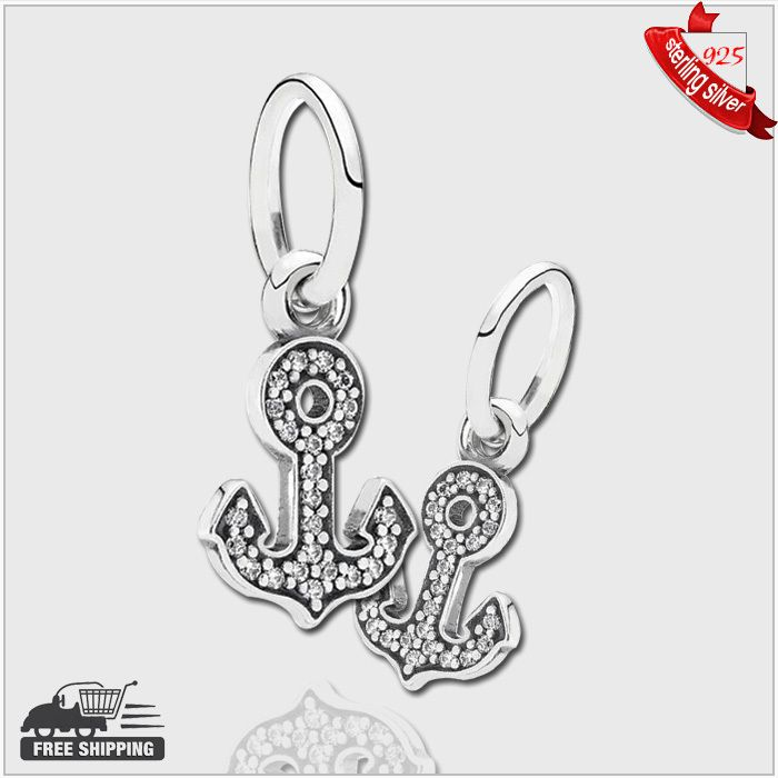 Find More Beads Information about Authentic 925 Sterling Silver Beads Anchor silver dangle with CZ for women fashion Fits Pandora Style Bracelets,High Quality bead silver,China silver hdtv Suppliers, Cheap beads 4mm from silver chinese on Aliexpress.com