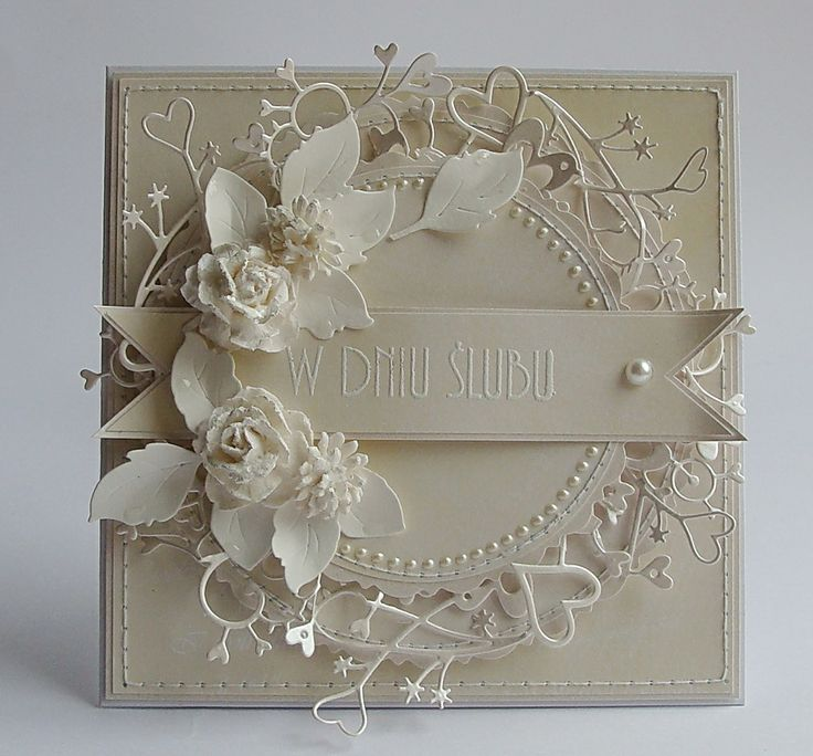Card Making Ideas Silver Wedding Part - 22: Dorota_mk: Go?cinnie Dla Our Creative Corner, Very Clever To Make A Circle  With Cherish Border!