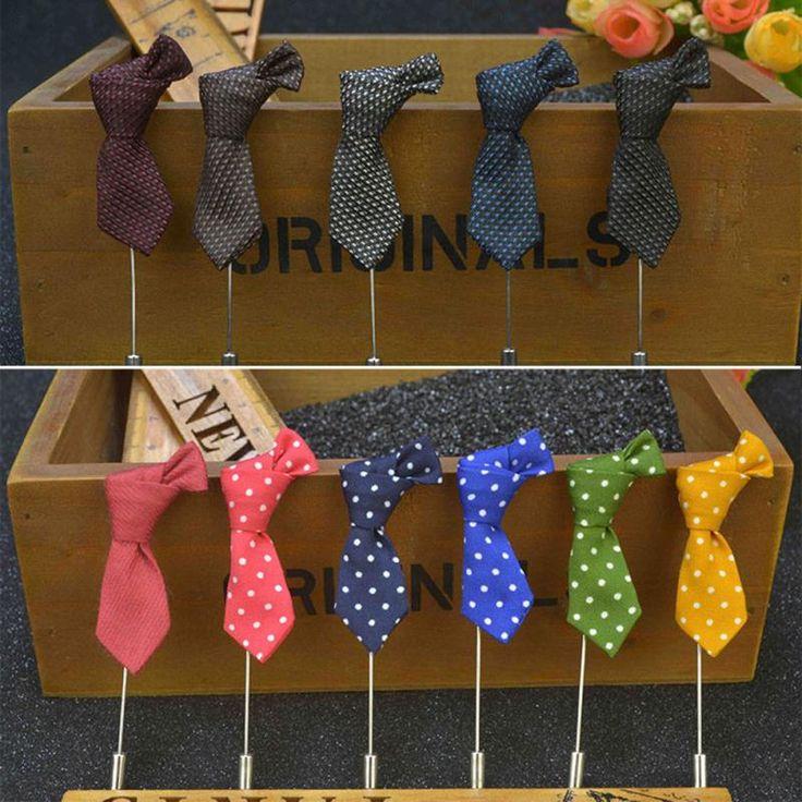 Moda de Los Hombres Clásicos Corbata Forma Broches Pins Largas Hechas A Mano Broche de Boda Pajarita Broche de Solapa Al Por Mayor