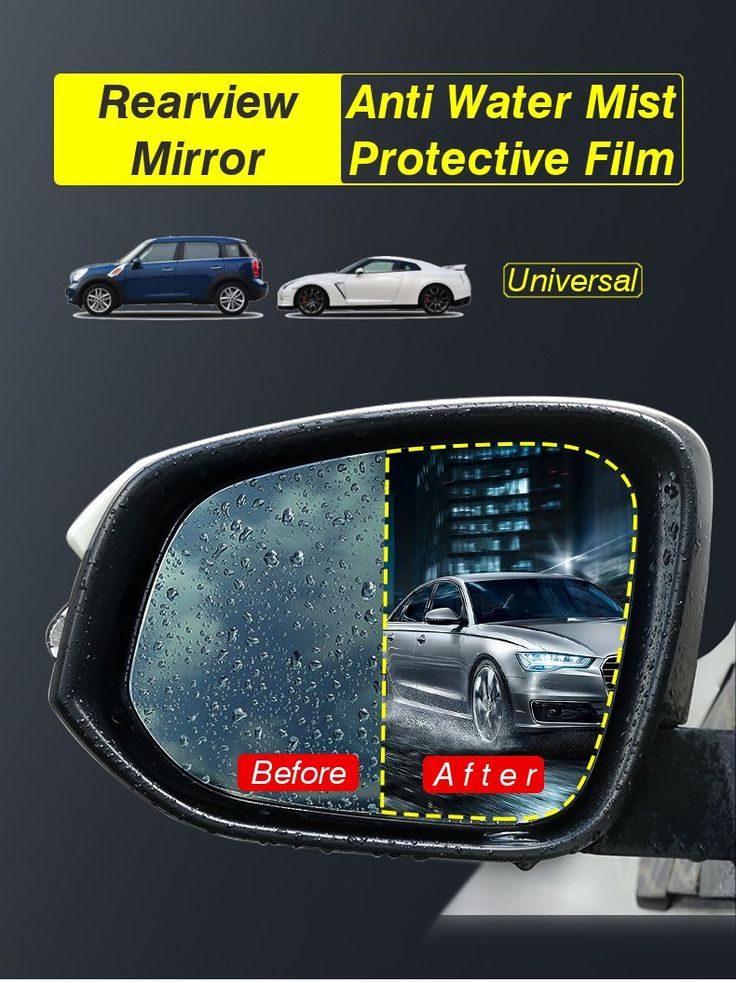 Car Anti Water Mist Film Anti Fog Antiglare Nano Coating Rainproof Rear View Mirror Window Protective Film